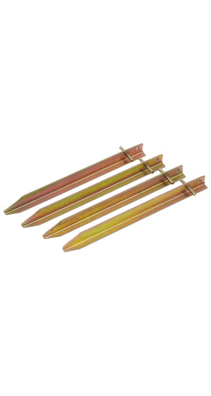 CAMPZ T-ijzeren-tentharingen 30 cm goudkleurig